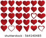 red heart vector icon... | Shutterstock .eps vector #564140485