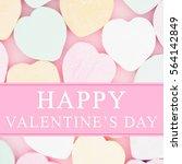 old fashion valentine's... | Shutterstock . vector #564142849