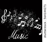music notes. vector... | Shutterstock .eps vector #564144271