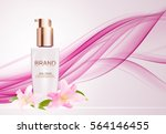 skin toner bottle tube template ... | Shutterstock .eps vector #564146455
