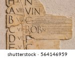 ancient rome alphabeta | Shutterstock . vector #564146959