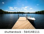 Lake Dock With Boat