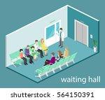 waiting room in hospital.... | Shutterstock .eps vector #564150391
