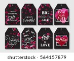 romantic gift  sale tags set... | Shutterstock .eps vector #564157879