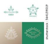 vector set of logo elements  ...   Shutterstock .eps vector #564159019