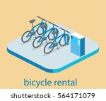 isometric flat 3d isolated... | Shutterstock .eps vector #564171079