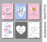 valentine s day creative... | Shutterstock .eps vector #564175711