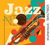 artistic jazz night background... | Shutterstock .eps vector #564175825