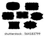 blank black vector frames or... | Shutterstock .eps vector #564183799