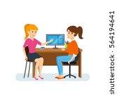 businessman in office work... | Shutterstock .eps vector #564194641