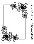 elegant vertical frame with... | Shutterstock .eps vector #564198715