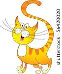 Stock vector funny yellow cat 56420020