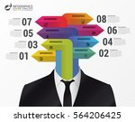 busiessman concept. infographic ... | Shutterstock .eps vector #564206425