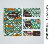 set of vector design templates. ... | Shutterstock .eps vector #564209347