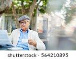 Small photo of Senior Reader in Park