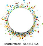 festive white round background... | Shutterstock .eps vector #564211765