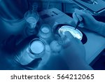 experiments in the laboratory | Shutterstock . vector #564212065