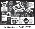 food menu for restaurant and... | Shutterstock .eps vector #564213775