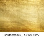shiny yellow leaf gold foil... | Shutterstock . vector #564214597