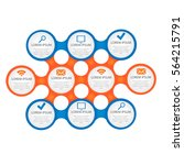 vector circle for infographic.... | Shutterstock .eps vector #564215791