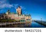 frontenac castle and dufferin...   Shutterstock . vector #564217231
