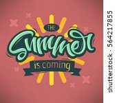 the summer is coming label... | Shutterstock .eps vector #564217855