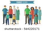 family icons set. traditional... | Shutterstock .eps vector #564220171