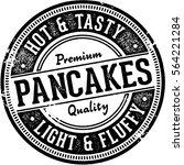 vintage pancakes menu design... | Shutterstock .eps vector #564221284