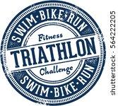 triathlon vintage sports racing ... | Shutterstock .eps vector #564222205