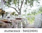 festive table setting  catering.... | Shutterstock . vector #564224041