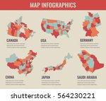 country maps infographic... | Shutterstock .eps vector #564230221