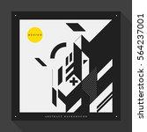 poster cover design template... | Shutterstock .eps vector #564237001