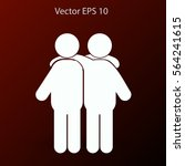 friendship vector icon | Shutterstock .eps vector #564241615