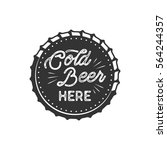 vintage style beer badge. ink... | Shutterstock .eps vector #564244357