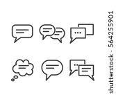 6 bold vectors dialogue icons