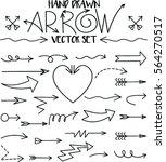 set of arrow hand drawn design... | Shutterstock .eps vector #564270517