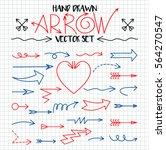 set of arrow hand drawn design... | Shutterstock .eps vector #564270547
