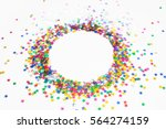 confetti colored stars. white... | Shutterstock . vector #564274159