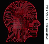artificial intelligence. the...   Shutterstock .eps vector #564275161
