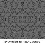 decorative wallpaper design in... | Shutterstock .eps vector #564280591
