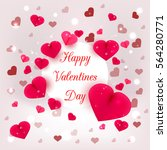realistic 3d colorful romantic... | Shutterstock .eps vector #564280771