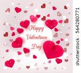 realistic 3d colorful romantic... | Shutterstock .eps vector #564280771