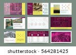 original presentation templates ... | Shutterstock .eps vector #564281425
