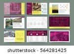 business template for brochure  ... | Shutterstock .eps vector #564281425