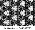 ornament with elements of black ...   Shutterstock . vector #564282775