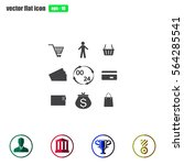 shopping icons set. vector | Shutterstock .eps vector #564285541