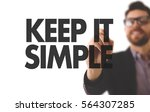 keep it simple | Shutterstock . vector #564307285