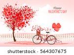 valentine's day background with ... | Shutterstock .eps vector #564307675
