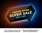 vector glowing banner on dark... | Shutterstock .eps vector #564308689