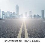 road floor and chongqing skyline | Shutterstock . vector #564313387